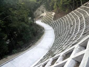 平成25年度県営林道千遠線(2工区)開設工事