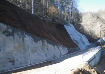 平成28年度県営林道高森山線開設工事